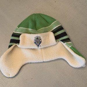 Knit Seattle sounders hat